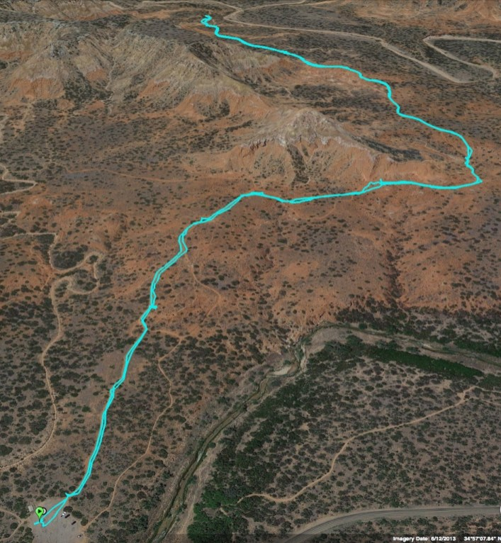 GPS track of our hike on the Lighthouse trail, totaling 3.3 miles