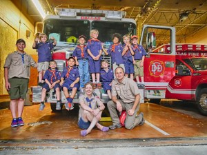 Den 3 goes to the fire station