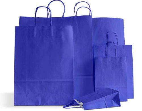 Coloured Twisted Paper Carrier Bags