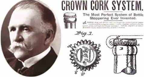 Crown Closure, Crown Closure History, crown corks, Inventor William Painter, patented caps