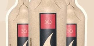 paper wine bottle, wine paper bottle, recycled paper wine packaging, paper bottle,