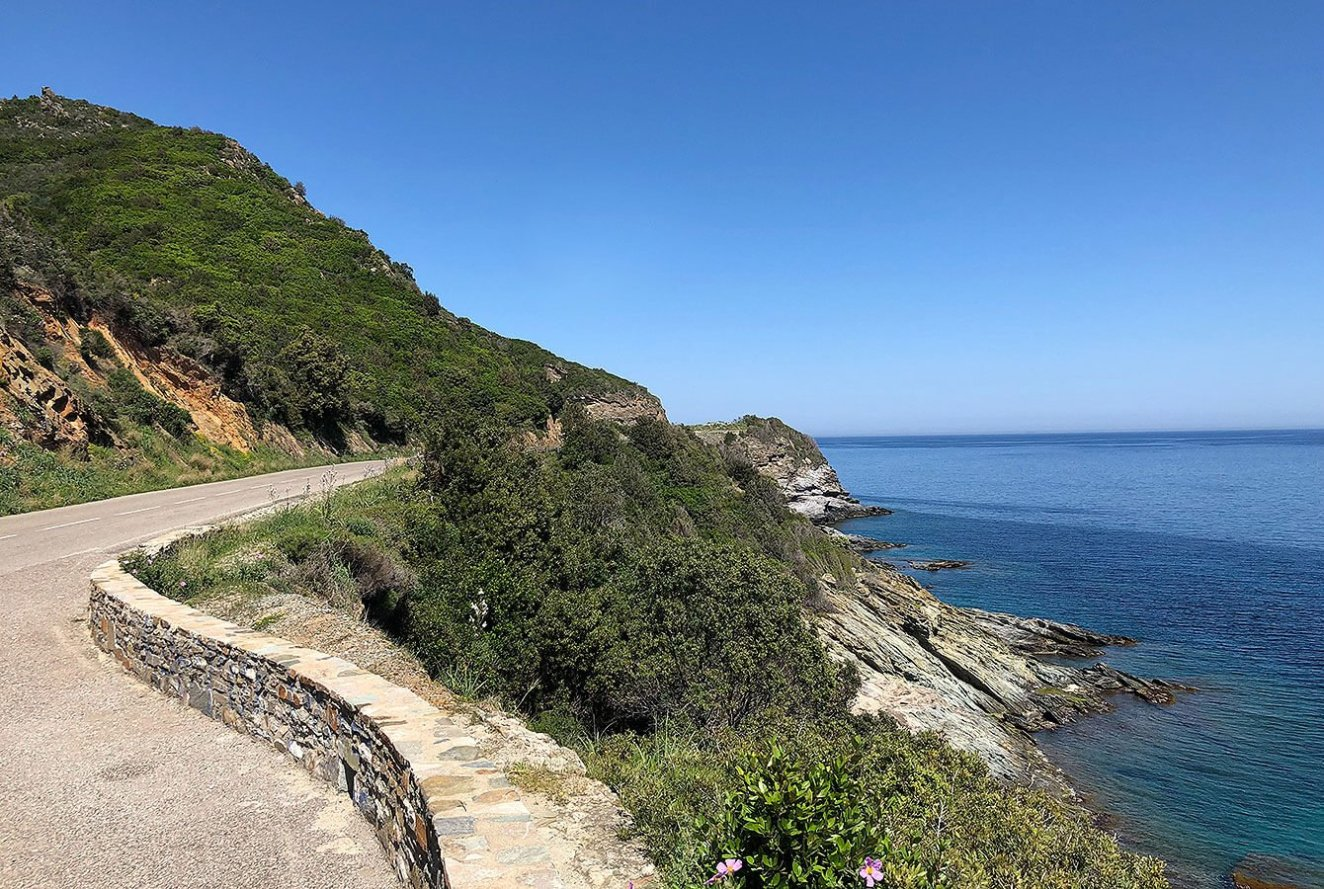 Road up the Cap Corse on the east side