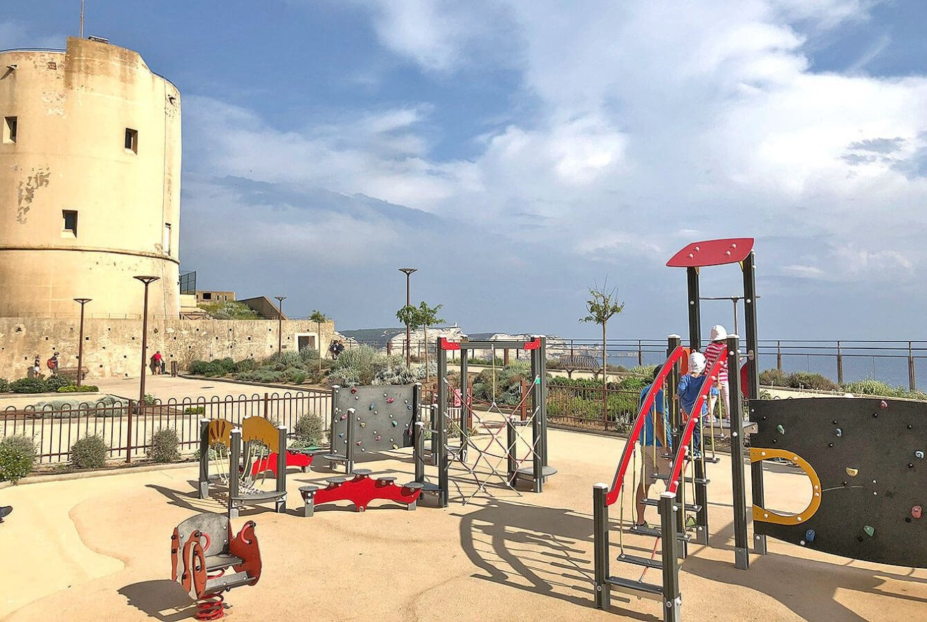Bonifacio playground by the school - Corsica - France