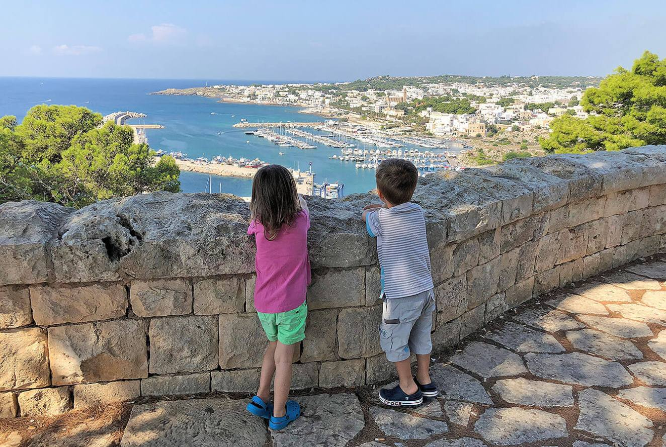 Looking down on to Leuca