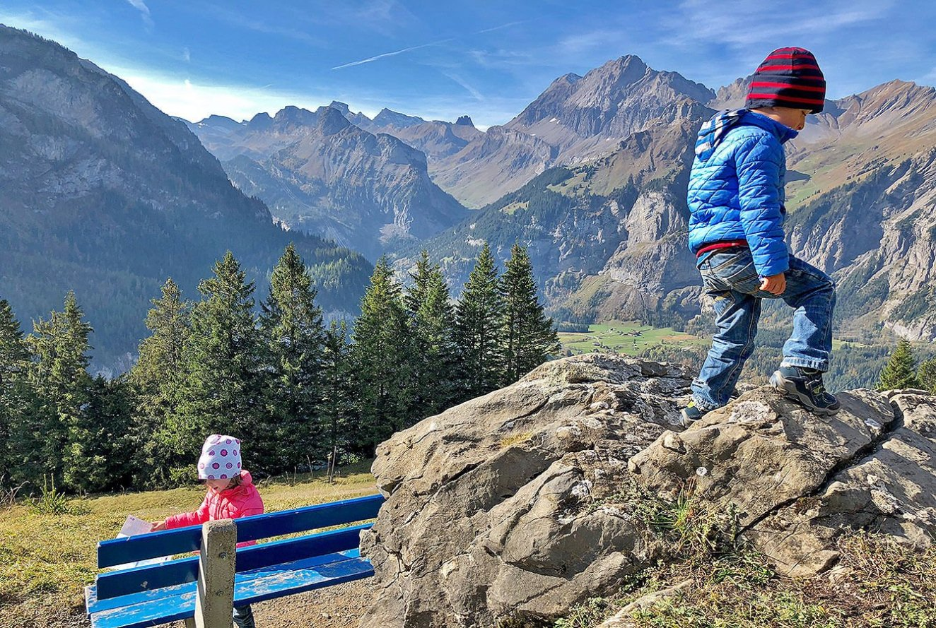 On the way to the Oeschinensee
