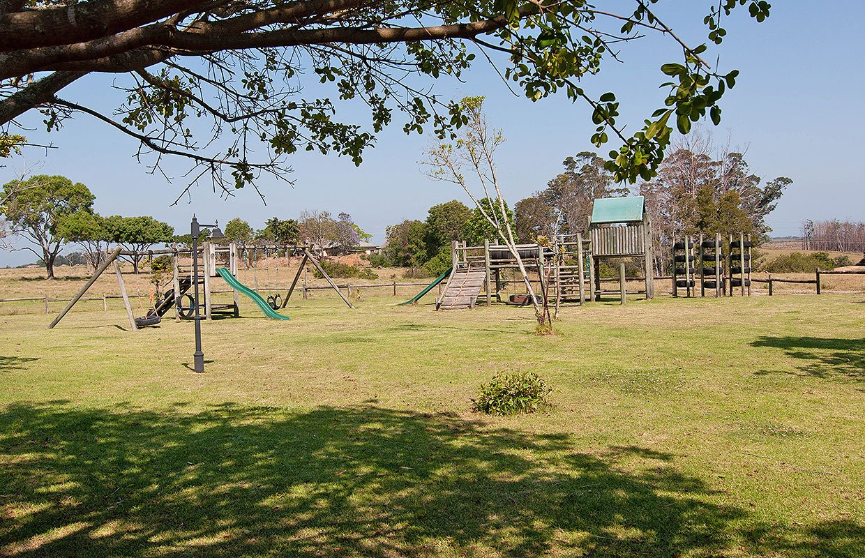 Play area for the kids before the guided drive at Plettenberg bay Game reserve