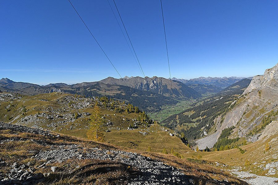 View down over the Berneese Alps from Sanetsch pass