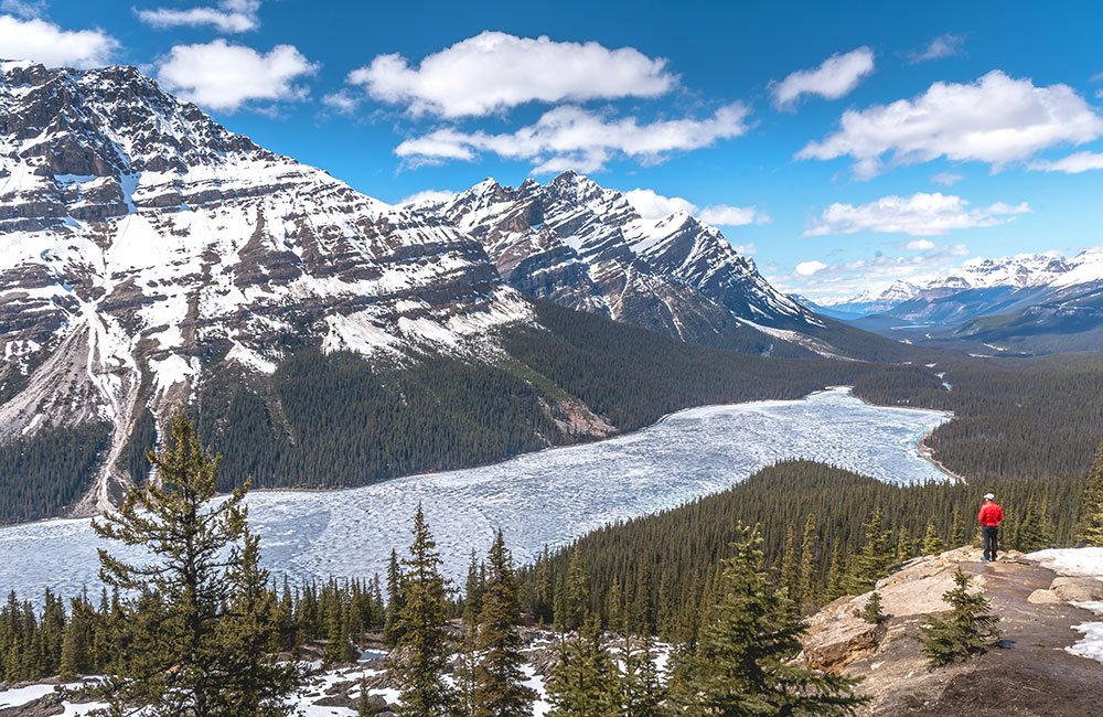 Peyto Lake still frozen