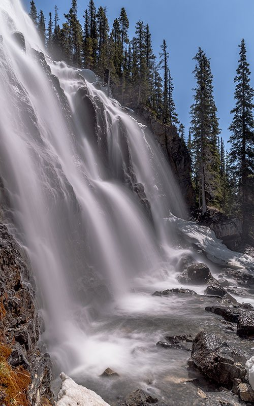 photograph of the Tangle falls  in canada