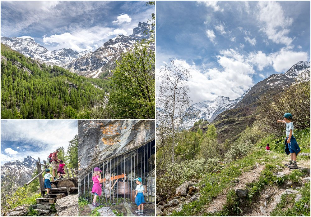 mountain pictures hiking in Grimentz _Zinal, with kids