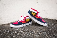"""Vans 'Year of the Monkey"""" Half Cab Multi-Suede-Leather -4"""