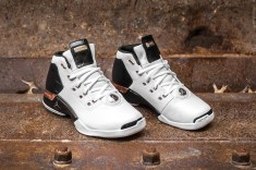 Air Jordan 17 retro white-metallic copper-black web crop angle