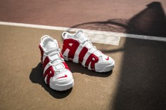 Nike Air More Uptempo white-gym red-15