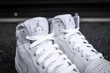 Air Jordan 1 Mid White-Wolf Grey-7