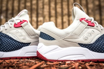 Saucony Grid 9000 'Micro Dot' Light Tan-Blue-6