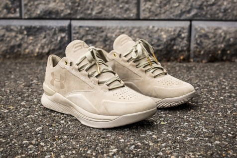 Under Armour Curry 1 Low Suede Desert angle