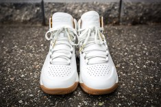 Under Armour Curry 1 Mid Leather White-White front