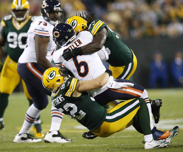 Bear fans got used to seeing this image every time Jay Cutler lined up against the Packers