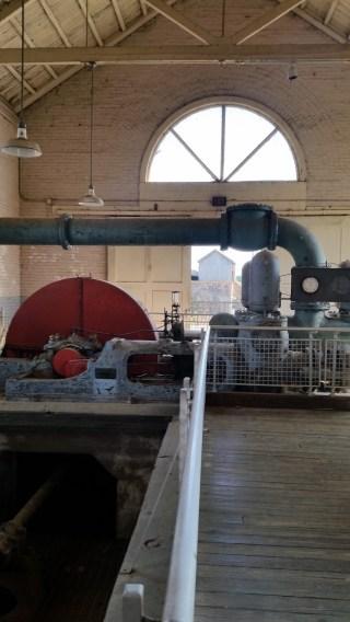 Inside a pump house