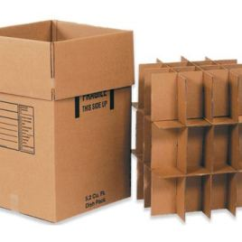 Dish Pack Box 18x18x28  350# / 51 ECT DW Printed Room Locator Check-Off Box $5.44/piece