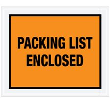 7 x 5 1/2″ Full Face Packing List Envelope (1000/Case) $40.36/piece