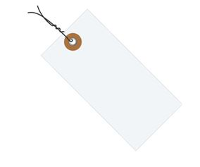 #4 4 1/4″x2 1/8″ Tyvek® Shipping Tags – Pre-wired (1000/case) $98.85/piece