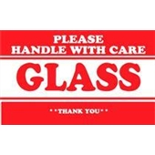 #DL1280  3×5″  Please Handle with Care Glass Thank You Label $13.91/piece