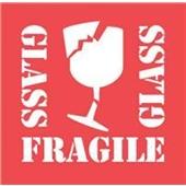 #DL1282  4×4″  Glass Fragile Glass (Broken Glass) Label $13.91/piece