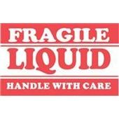 #DL1300  3×5″  Fragile Liquid Handle with Care Label $13.91/piece