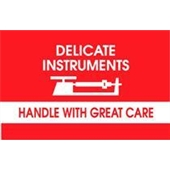 #DL1340  3×5″  Delicate Instruments Handle with Great Care Label $13.91/piece