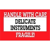 #DL1460  3×5″  Delicate Instruments Handle with Care Fragile Label $14.88/piece
