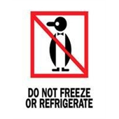 #DL4040  3×4″   Do Not Freeze or Refrigerate (Penguin) Label $13.91/piece