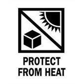 #DL4400  3×4″  Protect from Heat (Sun/Box) Label $13.91/piece