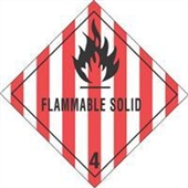 #DL5130  4×4″  Flammable Solid – Hazard Class 4 Label $13.91/piece