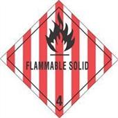 #DL5130  4×4″  Flammable Solid – Hazard Class 4 Label $14.88/piece