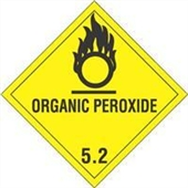 FINAL SALE: #DL5170  4×4″  Organic Peroxide – Hazard Class 5 Label $14.88/piece