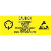 #DL9060  1×2 1/2″  Caution Electrostatic Sensitive Devices- Do Not Open Label $10.25/piece
