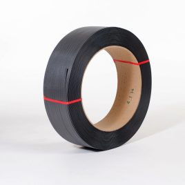 1/2″x8,900` .026 410#  16×6 Black Hand Grade Poly Strapping $44.75/piece