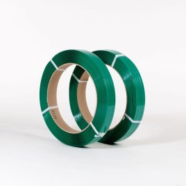 5/8″x2,200` .025 900# 16×3 Smooth Green Polyester Strapping (2 coils/cs) $88.88/piece