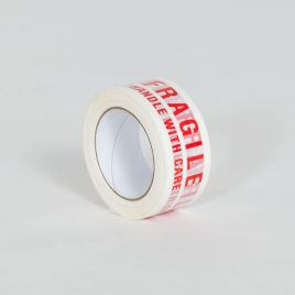 2″x110 yds. 2.0 Mil Fragile Handle With Care Pre-Printed Carton Sealing Tape (36/Case) $140.36/piece