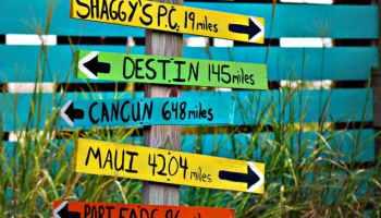 sign arrow direction travel