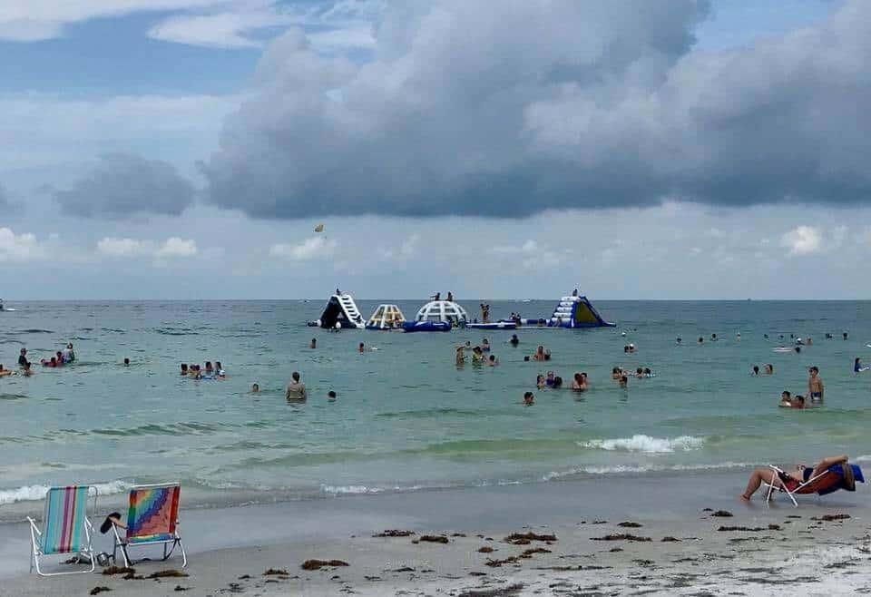 Ocean playground with slides