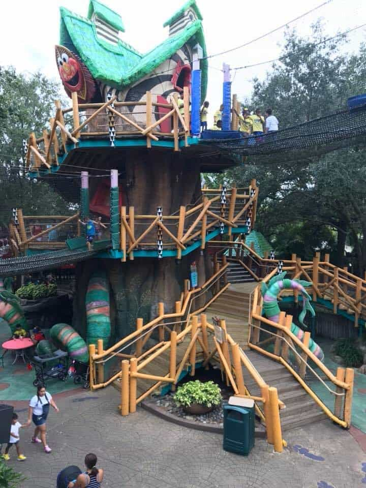 Tree house climbing area in Busch Gardens Tampa