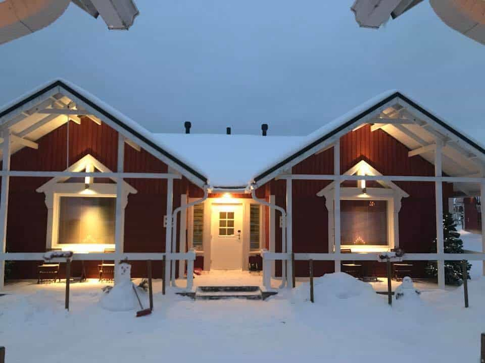 Cottage at the Santa Claus village in Finland