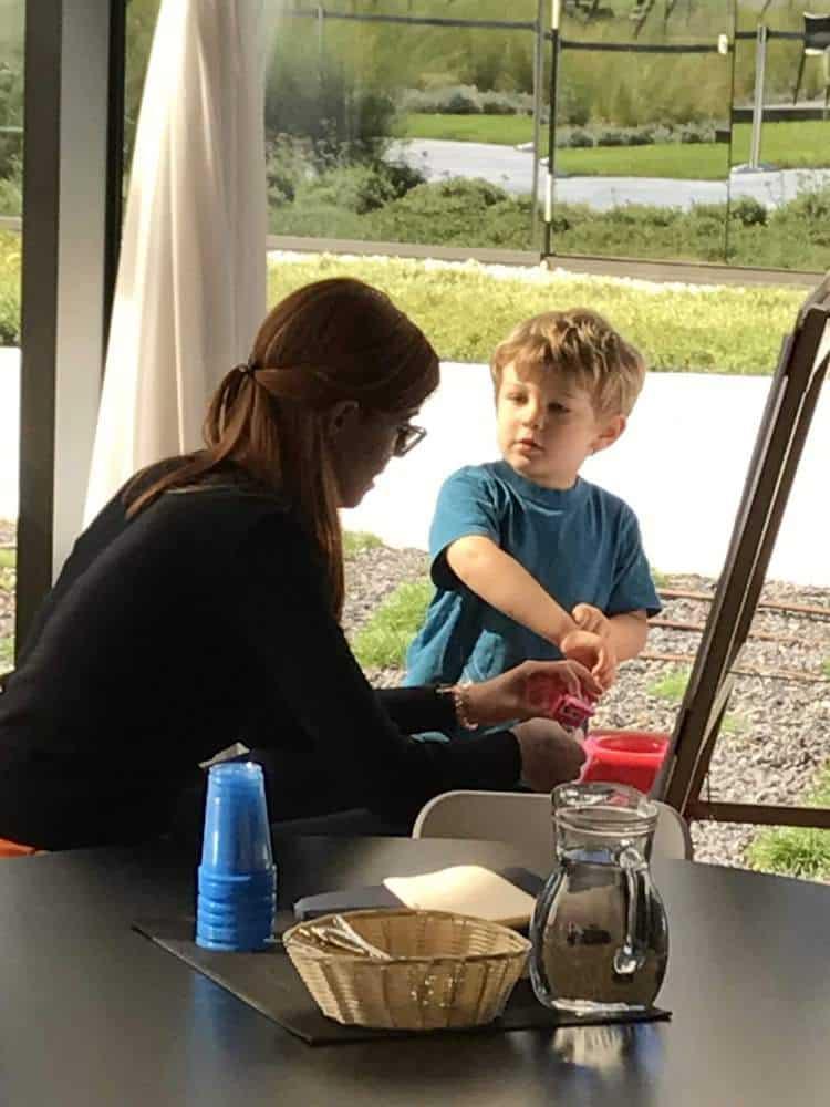 Children's dining zone at Hotel Amarin in Croatia