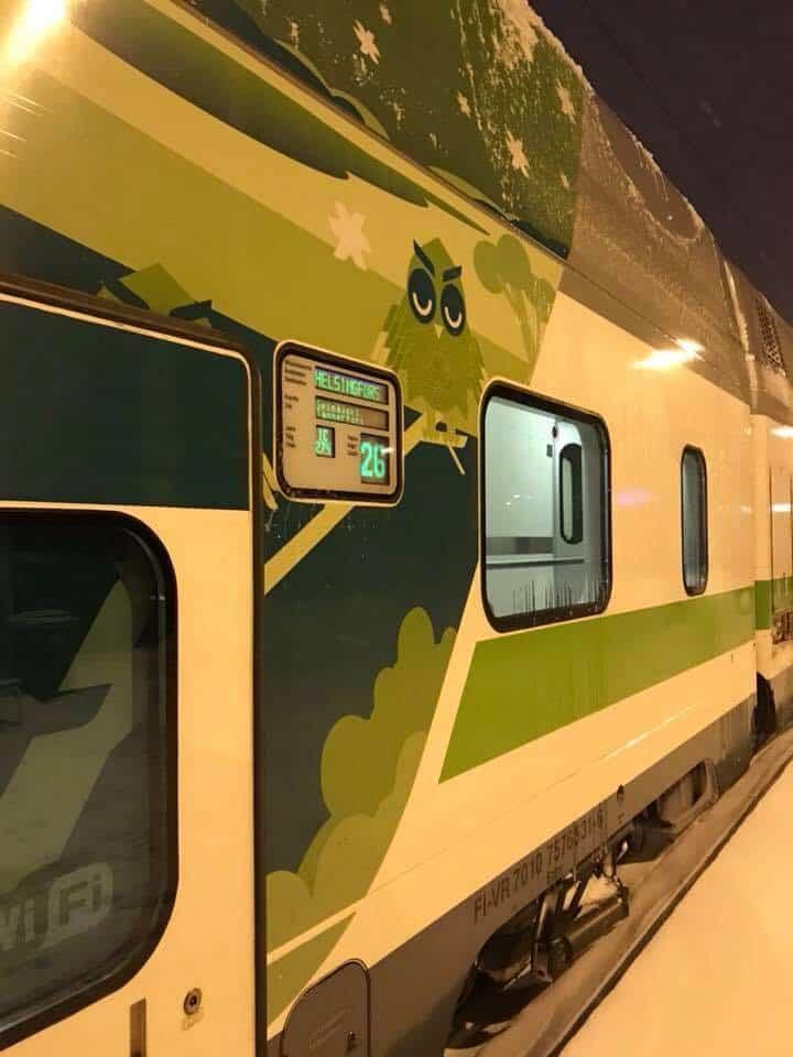 Overnight train in Finland.