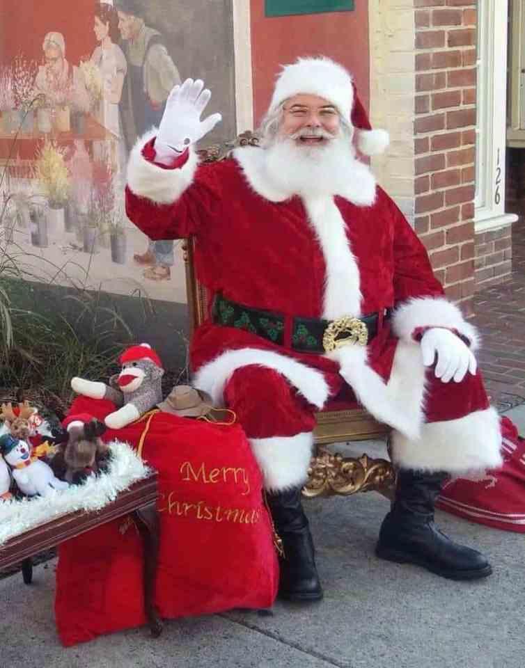 Santa in Budapest, Hungary