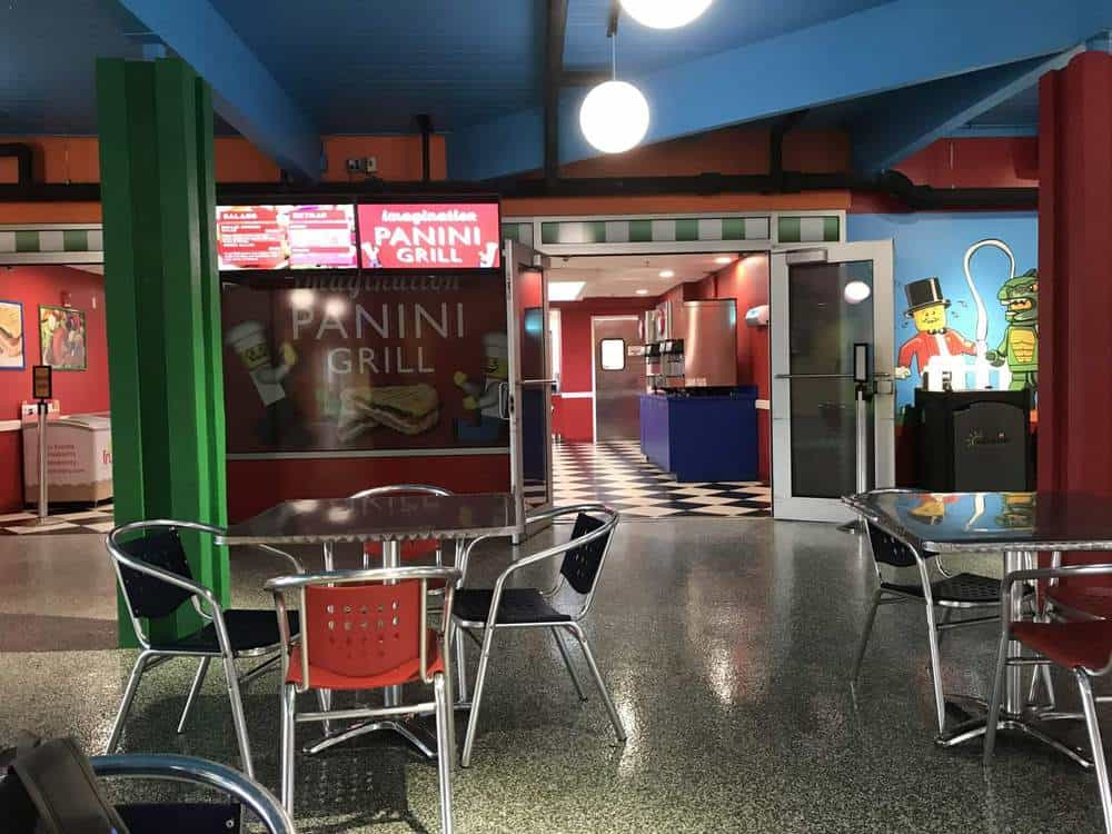 Panini Restaurant in the Building Zone at Legoland Florida