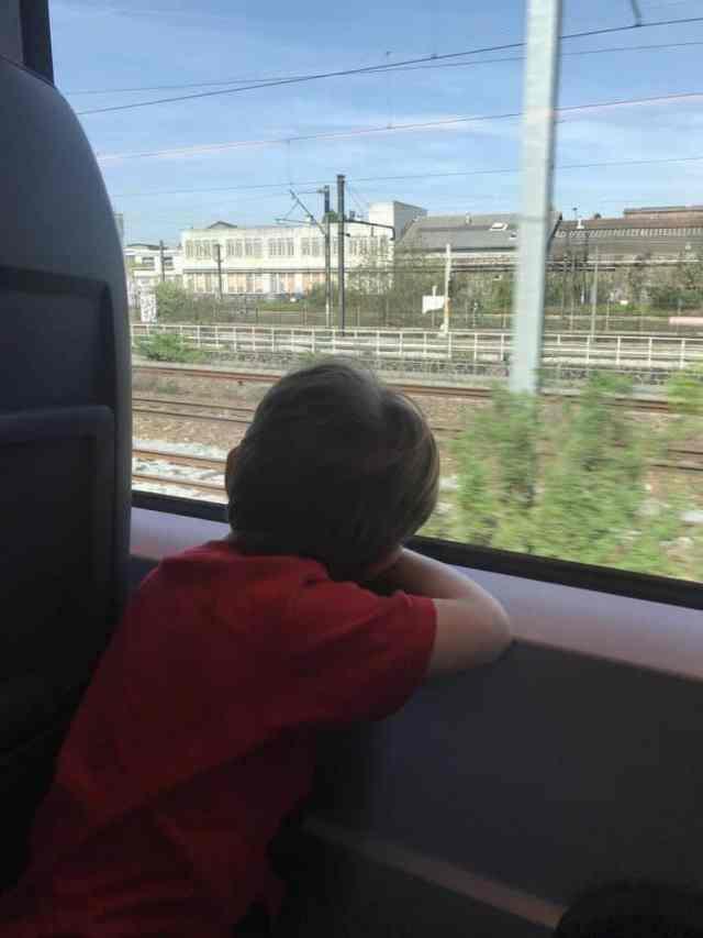 ICE train to Paris