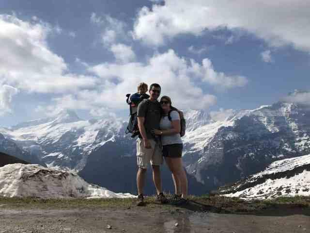 Hiking to Lake Bachalpsee, Switzerland